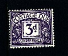 GREAT BRITAIN - 1936 POSTAGE DUES 3d  WMK EDWARD FINE USED  SG D22 - Tasse