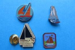 Lot De 4 Pin's, Sailing,Voile,Segelschiff - Sailing, Yachting