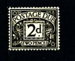 GREAT BRITAIN - 1937 POSTAGE DUES 2d  KGVI  MINT NH  SG D29 - Tasse