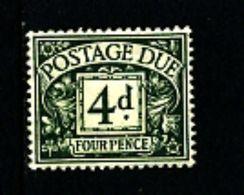 GREAT BRITAIN - 1937 POSTAGE DUES 4d  KGVI  MINT NH  SG D31 - Tasse