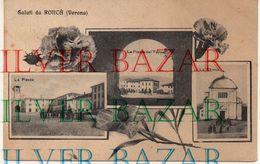 SALUTI DA RONCA' - VERONA - LA CHIESA, LA PIAZZA E LA PIAZZA DAL TUNNEL - Verona