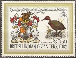 British Indian Ocean Territories  1971  SG  40  Opening Research Station  Mounted Mimt - British Indian Ocean Territory (BIOT)