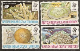 British Indian Ocean Territories  1971  SG  41-4  Coral  Mounted Mimt - British Indian Ocean Territory (BIOT)