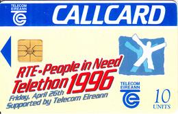IRELAND - Telethon 1996, Chip GP1, 05/96, Used - Ireland
