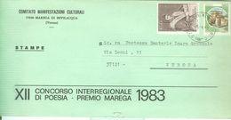 XII CONCORSO INTERREGIONALE DI POESIA - PREMIO MAREGA -1983-MAREGA DI BEVILACQUA (VERONA),COMITATO ORGANIZZATORE - Programmi