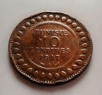 RA7 TUNISIE 10 CENTIMES 1917 A - Tunisia