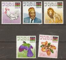 Kenya  1964    SG  15-19  Inauguration Of Republic  Mounted Mint - Kenya (1963-...)