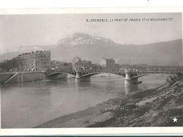 Carte Photo   N Et B   De  GRENOBLE  ( 38 )  Le Pont De France Et Le Moucherotte . - Grenoble