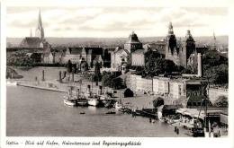 Stettin - Blick Auf Hafen, Hakenterrasse Und Regierungsgebäude (147) - Polen