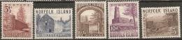 Norfolk Islands  1953 SG 13,15,16,17,18  Mounted  Mint - Ile Norfolk