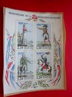 1789 /1989 Bicentenaire De La Révolution Française Timbres Europe  France  Bloc & Feuillet Oblitéré - Oblitérés