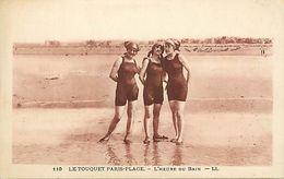 -dpts Div.-ref-AB279- Pas De Calais - Le Touquet Paris Plage - L Heure Du Bain - Baigneuse - Baigneuses - - Le Touquet