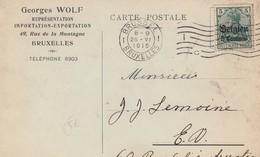 KARTE BELGIEN BRUSSEL 1915 GEORGES WOLF - Deutschland