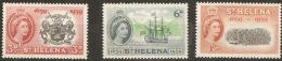 St Helena  1959  SG  169-71  Tercentenary Of Settlement  Mounted Mint - Saint Helena Island