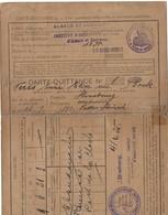 Carte-Quittance A. Pour Assurance Obligatoire Alsace Lorraine Strasbourg 30.3.1922 (4scans) - Old Paper
