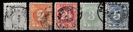 Suriname 1890-1893 Cijfers. NVPH 16-20 Gestempeld - Suriname ... - 1975