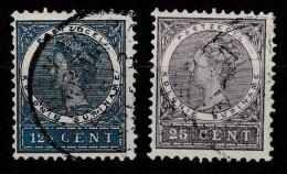 Suriname 1904 Wilhelmina 12.5ct NVPH 49 + 25ct NVPH 53 Gestempeld - Suriname ... - 1975