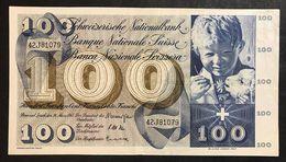 Svizzera 100 Francs Franken Franchi 1963 LOTTO 1972 - Svizzera