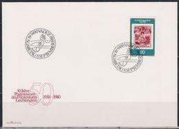 Lichtenstein FDC  1980  MiNr.750  50 Jahre Postmuseum Vaduz ( D 4429 ) Günstige Versandkosten - FDC