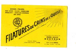 BU 1500 / BUVARD  FILATURES DE CRINS DE L'OUEST  GRANDS MOULINS SUEVRES (LOIR & CHER) - Textile & Clothing
