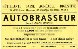 BU 1507 / BUVARD  AUTOBRASSEUR   LA DELICIEUSE BOISSON DE MENAGE  ETS LAMENDIN LEFEBVRE LENS - Limonades