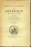 CHARAVAY J. - GENERAUX MORT POUR LA PATRIE 1792/1804 - EDIT. BROCHÉ 120 PAGES DE 1893 -FAC-SIMILE DES SIGNATURES - B & R - Bibliografie