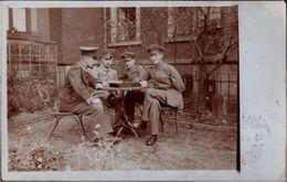 ! Altes Foto, Photo, Dresden, St. Josef Stift, Schachspieler, Chess, Echecs, Echtfotokarte - Chess