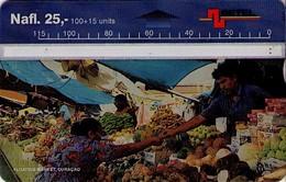 TARJETA TELEFONICA DE CURACAO (ANTILLAS HOLANDESAS) 609B, FLOATING MARKET. (005) - Antilles (Netherlands)