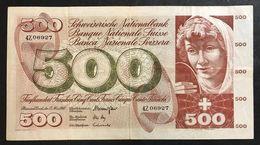 Svizzera 500 Francs Franken Franchi 1968 LOTTO 1979 - Switzerland