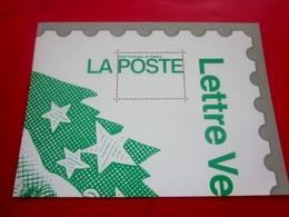 """Publicité Postale Vignette **  LETTRE VERTE LA POSTE Bloc""""Ceci N'est Pas Un Timbre""""STICKER Aufkleber Thème;Erinnophilie - Autres"""