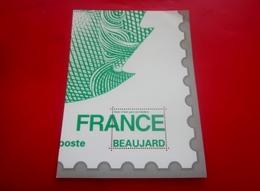 """Publicité Postale Vignette ** Baujard LETTRE VERTE LA POSTE Bloc""""Ceci N'est Pas Un Timbre""""STICKER Aufkleber Erinnophilie - Autres"""