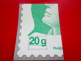 """Publicité Postale Vignette ** 20 G LETTRE VERTE LA POSTE Bloc""""Ceci N'est Pas Un Timbre""""STICKER Aufkleber Erinnophilie - Autres"""