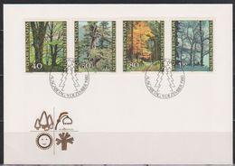 Lichtenstein FDC  1980  MiNr.757 - 760  Der Wald In Den Jahreszeiten ( D 2695 ) Günstige Versandkosten - FDC