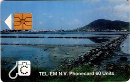 TARJETA TELEFONICA DE ST. MAARTEN (ANTILLAS HOLANDESAS) TEM-0005A, BEACH. (001) - Antilles (Netherlands)