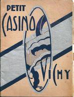 """Programme Petit Casino Vichy 1934 """"Le Greluchon Délicat"""" Jacques Natanson Germaine Geranne Marcus Bloch - Programs"""
