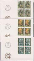 Lichtenstein FDC  1980  MiNr.758 - 760 4er Blocks Der Wald In Den Jahreszeiten ( D 2786 ) Günstige Versandkosten - FDC