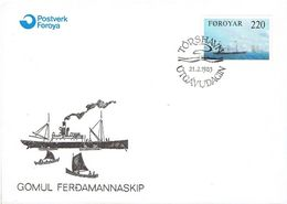 FAROE ISLANDS  # FDC FROM 1983 - Féroé (Iles)