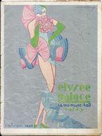 """Programme Elysée Palace Vichy Saison 1930 Music Hall """"La Revue Topaze"""" Zoiga Et Rachel Rose Amy Max Revol - Programs"""