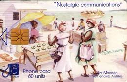 TARJETA TELEFONICA DE ST. MAARTEN (ANTILLAS HOLANDESAS) TEM-0009, MARKET PLACE. (007) - Antilles (Netherlands)