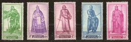 Belgie Belgique 1946 OCBn° 737-41 *** MNH Cote 16 Euro - Unused Stamps