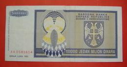 SRPSKA REPUBLIKA BOSNA I HERCEGOVINA 1000000 DINARA 1993, Pick 147, BANJA LUKA - Bosnië En Herzegovina