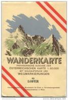 92 Lofer 1952 - Wanderkarte Mit Umschlag - Provisorische Ausgabe Der Österreichischen Karte 1:50.000 - Herausgegeben Vom - Mapamundis