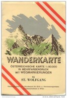 95 Sankt Wolfgang Im Salzkammergut 1954 - Österreichische Karte 1:50.000 - Wanderkarte Mit Umschlag - Herausgegeben Vom - Wereldkaarten
