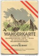 102 Aflenz Kurort 1955 - Wanderkarte Mit Umschlag - Provisorische Ausgabe Der Österreichischen Karte 1:50.000 - Herausge - Mapamundis
