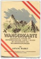 106 Aspang Markt 1955 - Wanderkarte Mit Umschlag - Provisorische Ausgabe Der Österreichischen Karte 1:50.000 - Herausgeg - Landkarten
