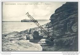 Santander - El Faro De Mouro Desde - La Peninsula De La Magdalena - Um 1910 - Cantabria (Santander)