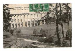Train Chemin De Fer Viaduc Chaumont Haute Marne 52 Hauteur 53m Long 654m Paire Timbre Attachée Cachet 1913 Locomotive - Trains