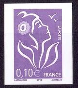 N°3732aa 0,10€  MARIANNE DE LAMOUCHE NON DENTELE ACCIDENTEL ET SANS PHOSPHORE LUXE** - Variétés Et Curiosités