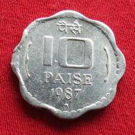 India 10 Paise 1987 H KM# 39  Inde - Inde