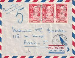 PARIS - PNEUMATIQUE - PARIS 113 - HOTEL DE VILLE LE 2-6-1952 - BEL AFFRANCHISSEMENT - Postmark Collection (Covers)